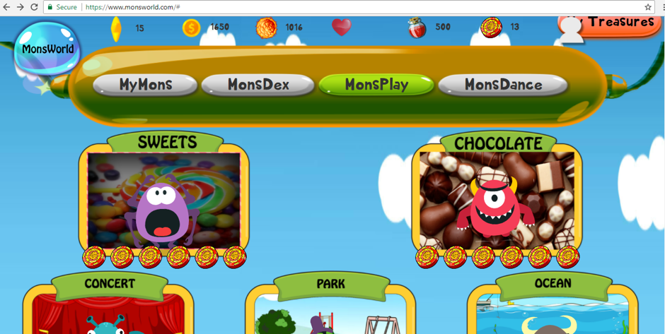 In addition, students get to play and interact with the monsters on MonsWorld. This injects fun in learning Math.