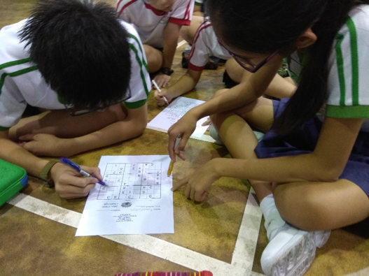 Students were engrossed in their Sudoku puzzles.